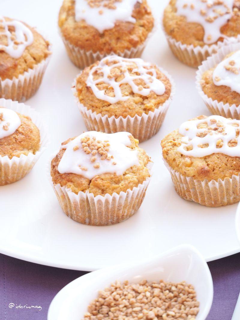 Vegane Apfel Karotte Nuss Muffins