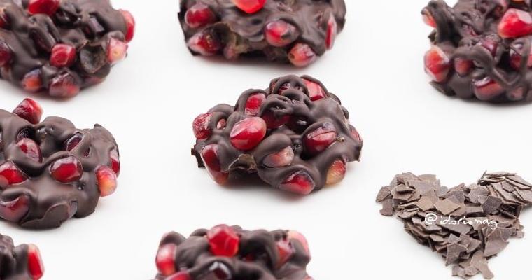 Für den kleinen Süßigkeiten Gusto zwischendurch: Granatapfelkern Schokolade Cookies