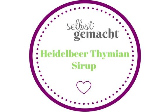 Heidelberr / Blaubeer Thymian Sirup Etikett zum ausdrucken
