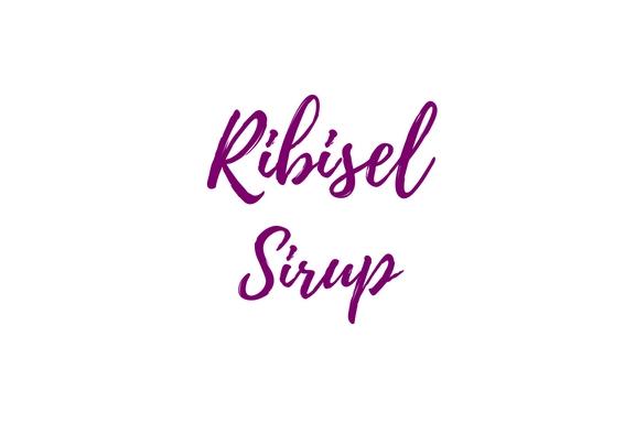 Ribisel Sirup Etiketten