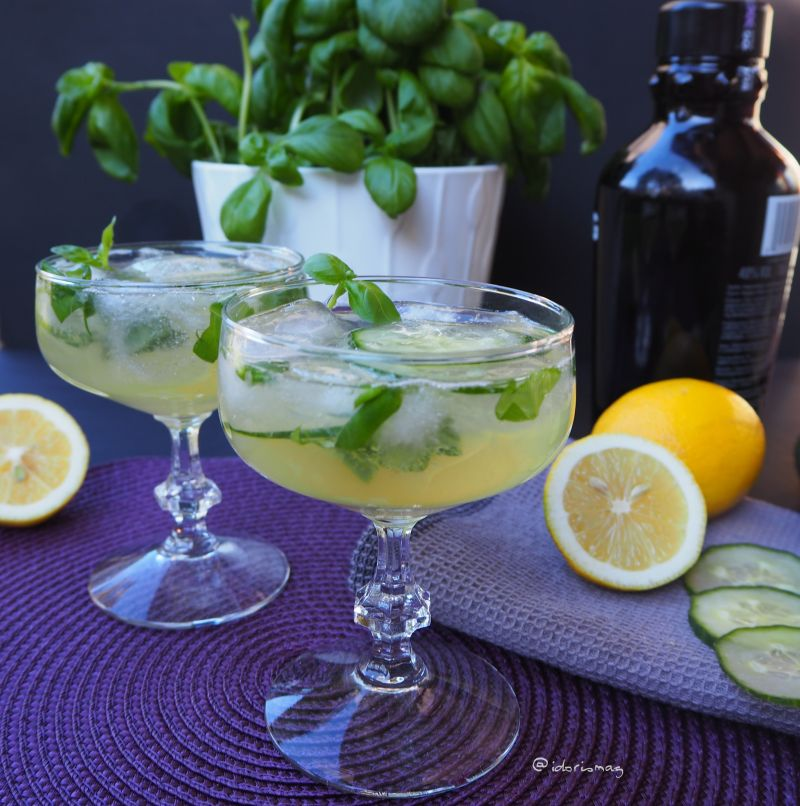 Basilikum Gurke Gin Cocktail