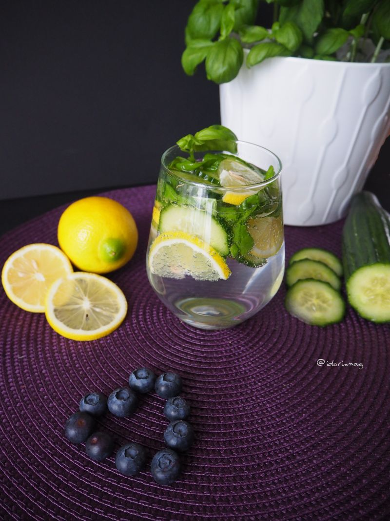 Infused Water - Gurke Basilikum Zitrone