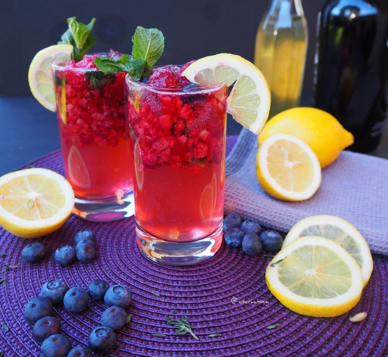 Himbeer Minz Gin Cocktail
