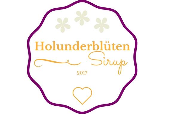 Holunderblüten Sirup Etikett 1
