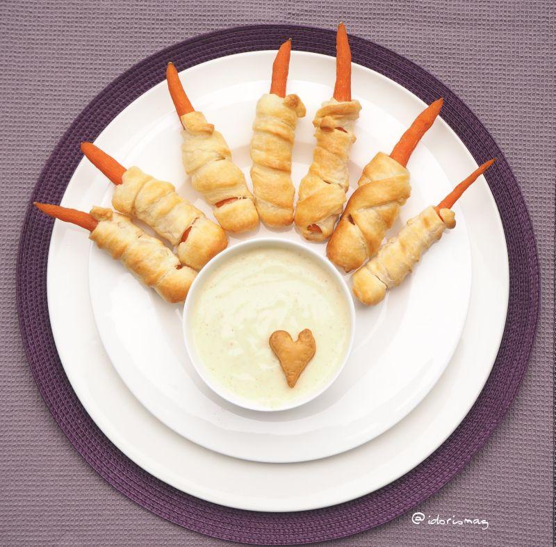Vegane Halloween Karotten Finger