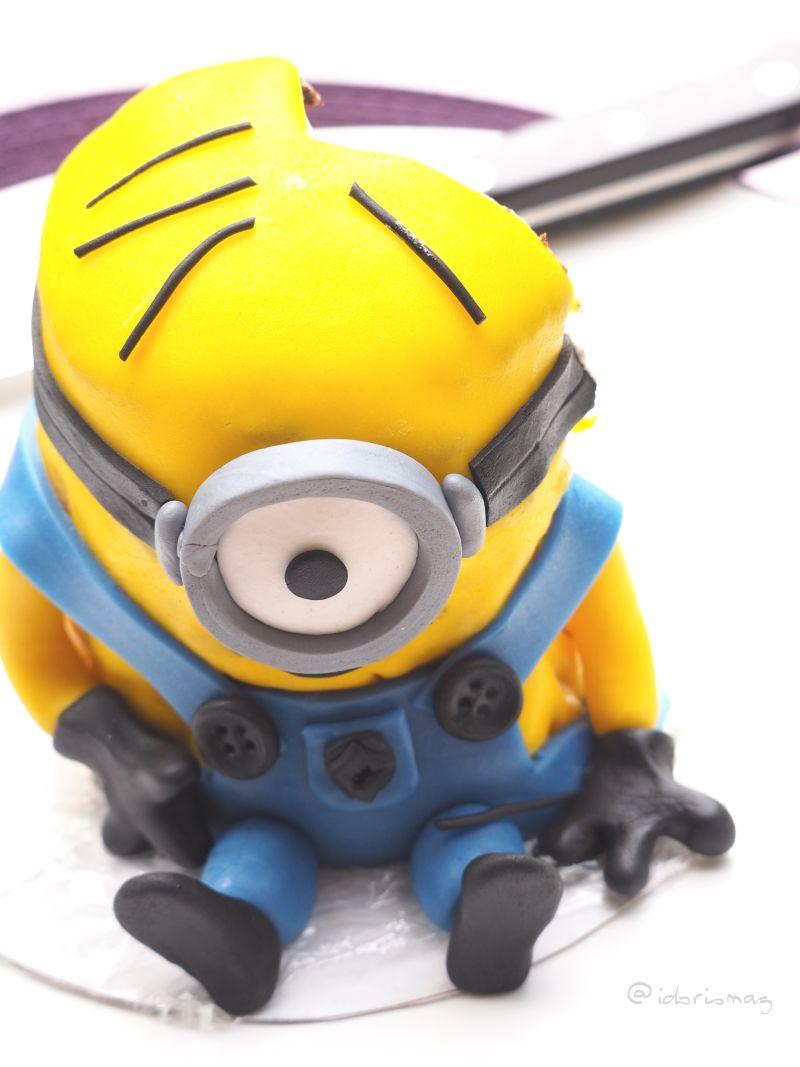 Vegane Minion Fondant Torte