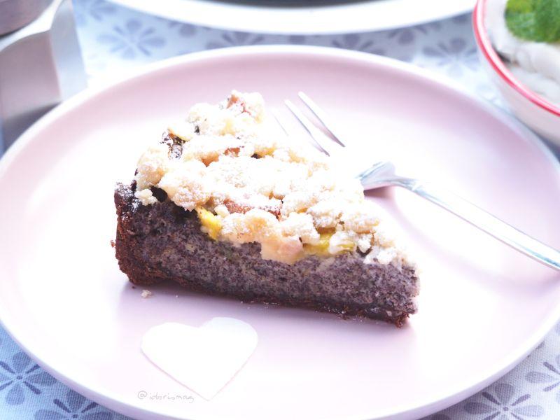 Veganer Mohn Streusel Kuchen