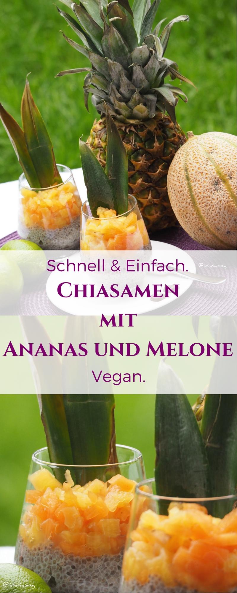 Chiasamen mit Melone und Ananas