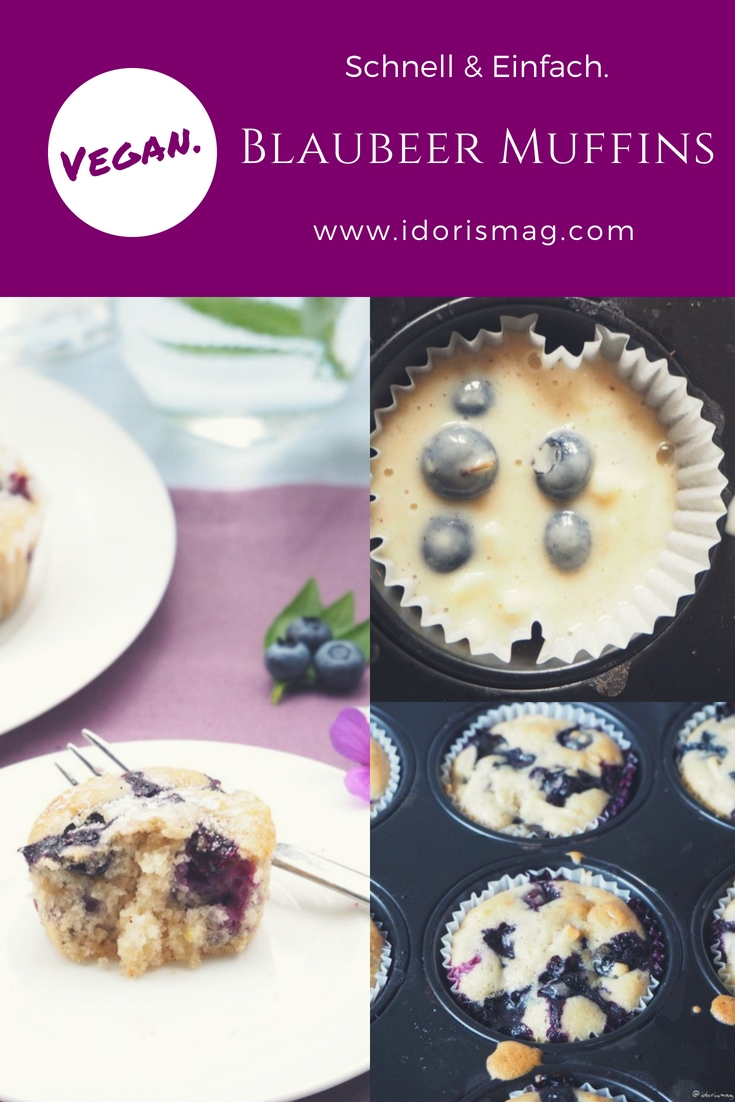 Vegane Blaubeer Muffins