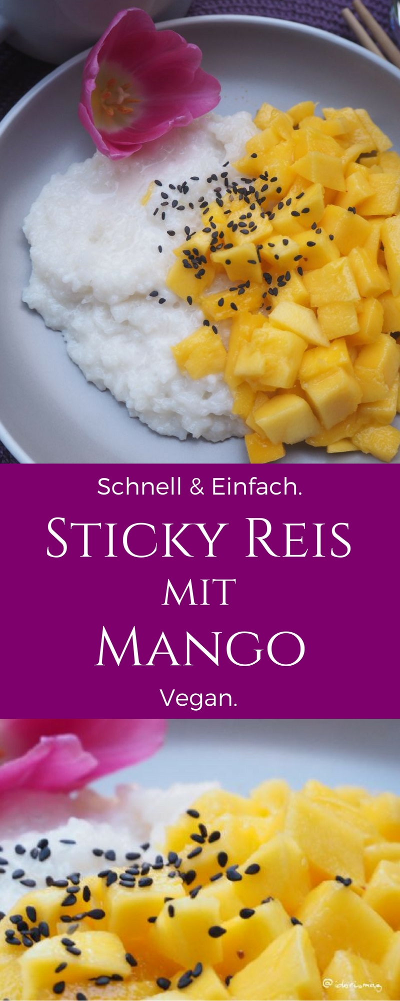 Sticky Rice with Mango - Klebereis mit Mango