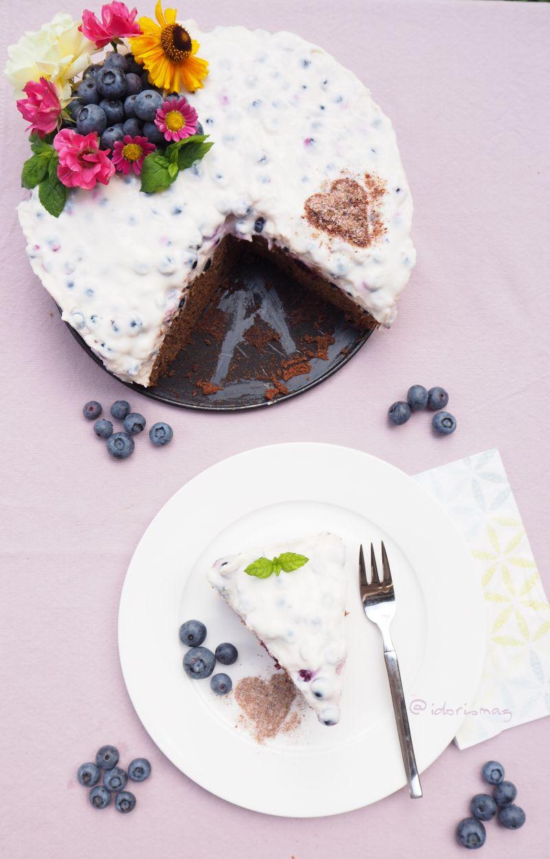 Vegane Schokolade Joghurt Beeren Torte