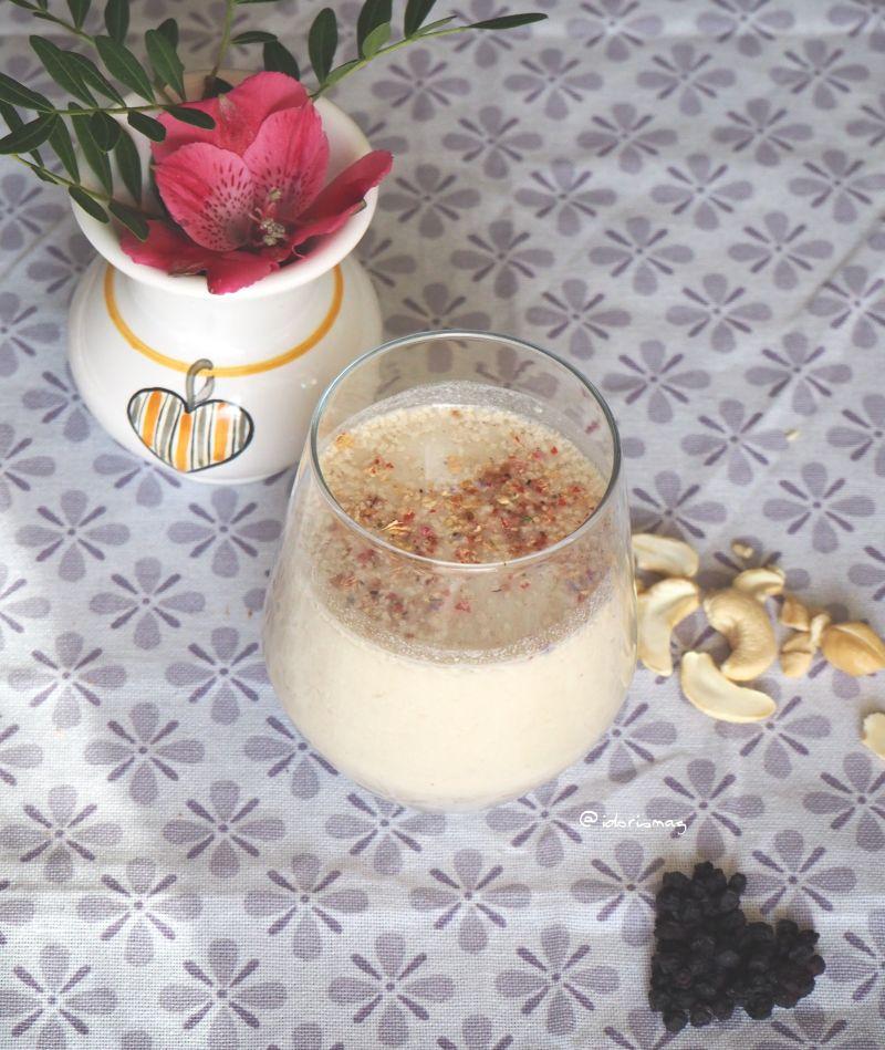 Vegane Cashewmilch mit Vanille