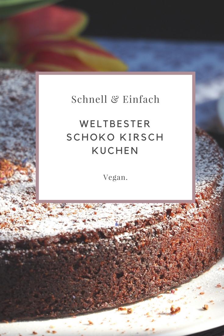 Welbester veganer Schokolade Kirsch Kuchen