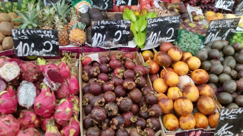 Wien Naschmarkt Vegan - Exotische Früchte