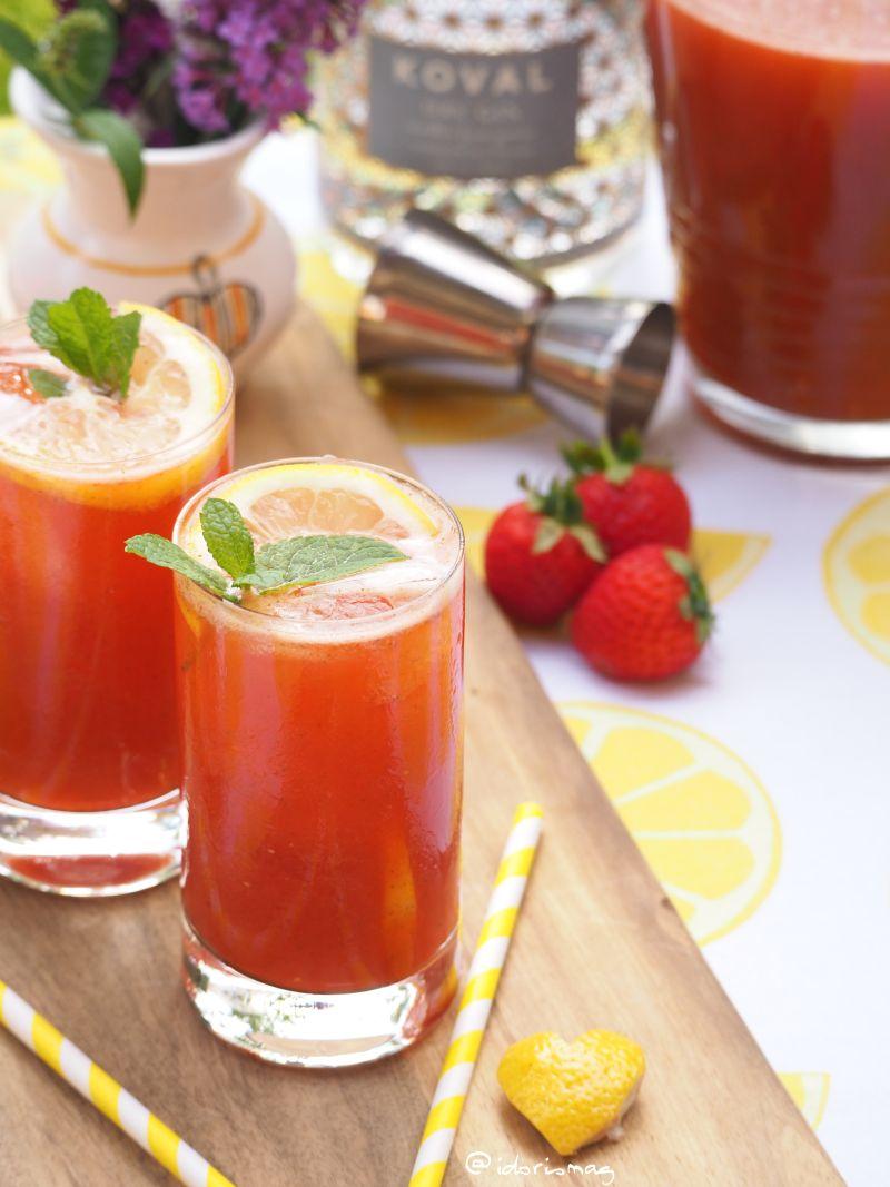 Zirone Erdbeer Minze Limonade
