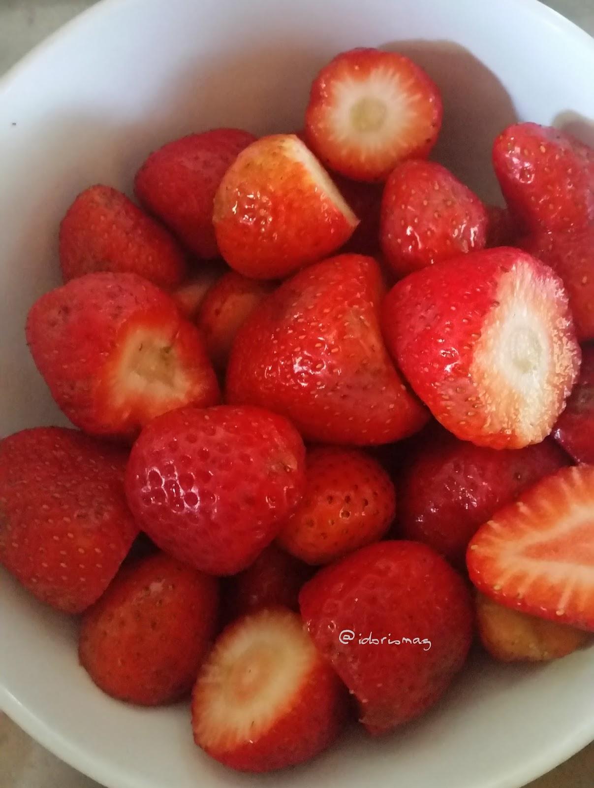 Veganes Erdbeer Eis