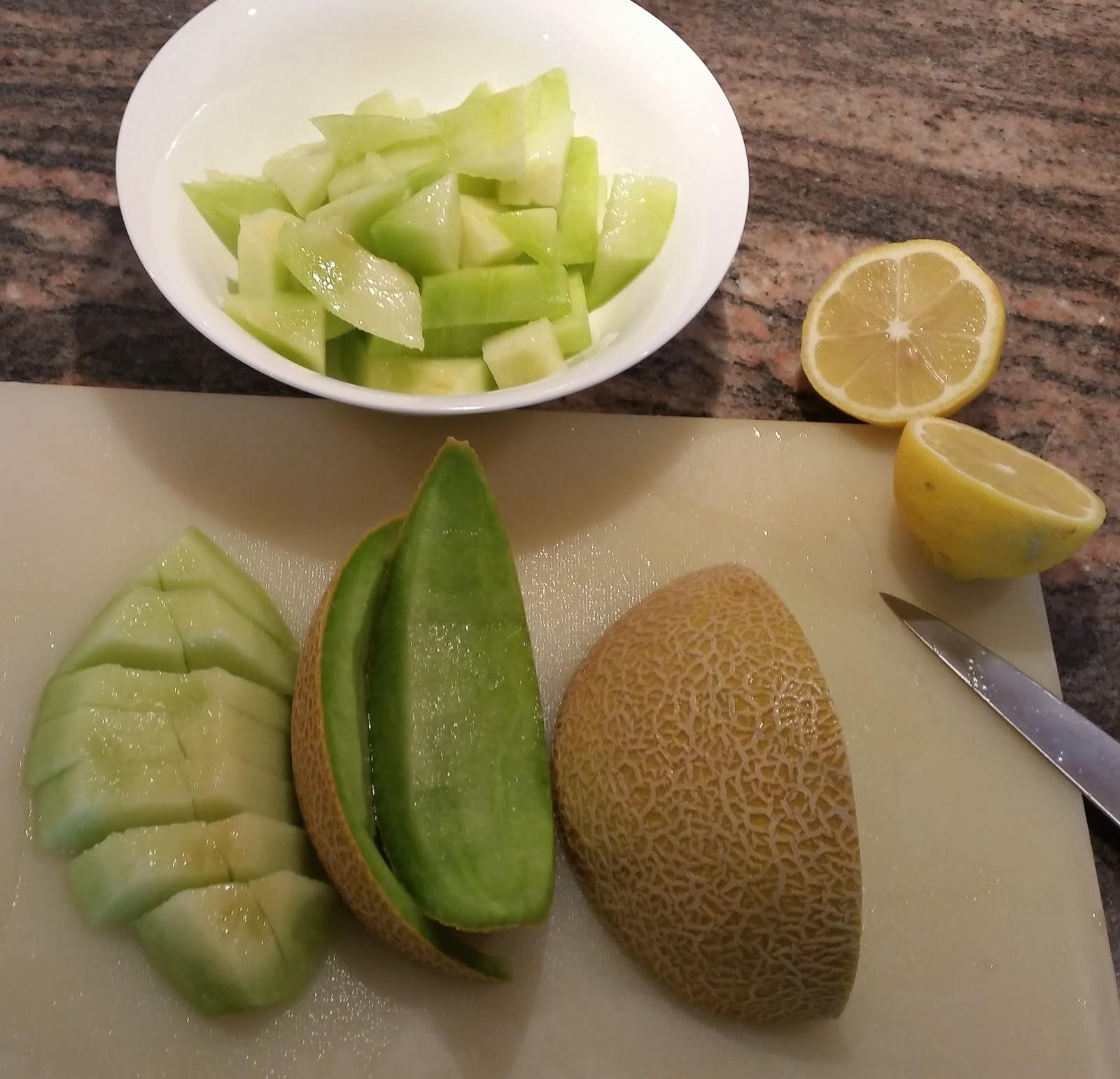 Veganer Melone Kirsch Smoothie