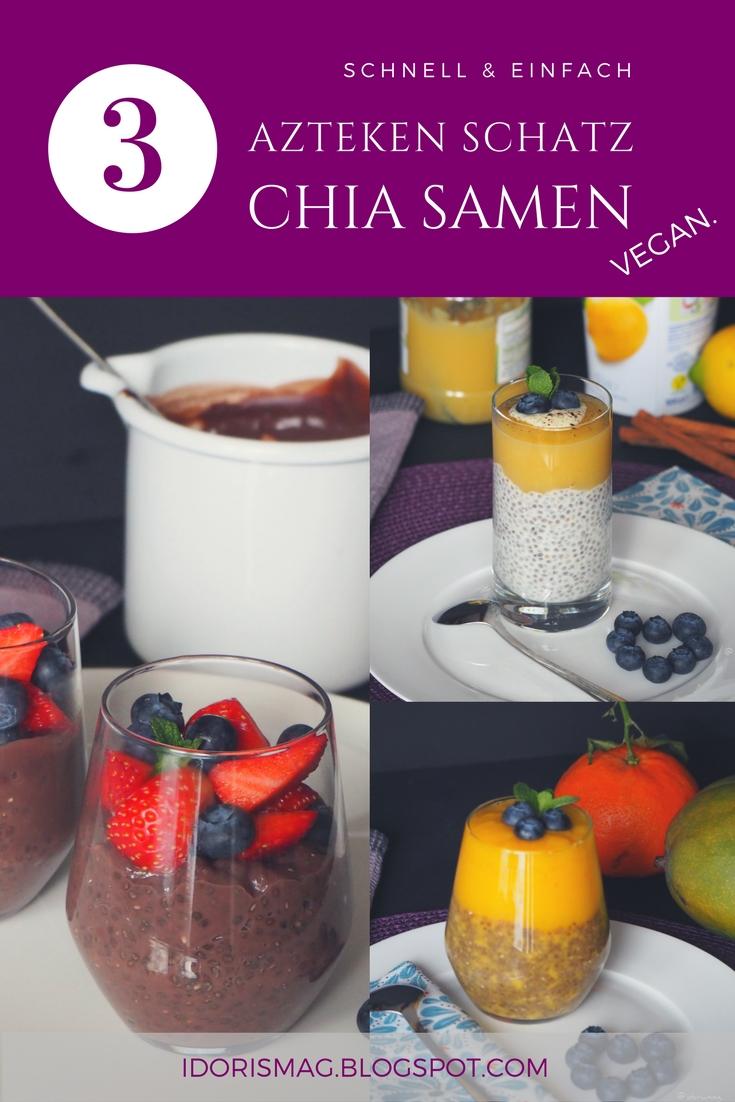Azteken Schatz Chiasamen –  3 leckere fruchtige, schokoladige Varianten