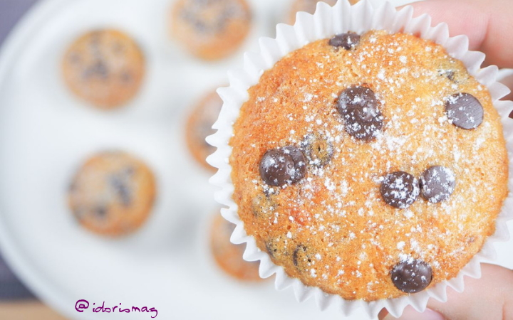 Vegan Recipe - Chocolate Chip Banana Muffins