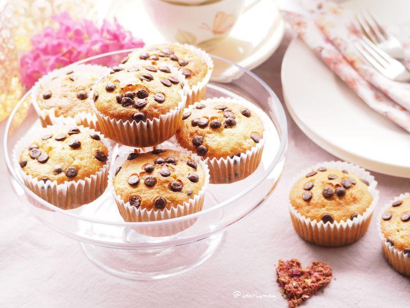 Schnell, einfach, lecker: Bananen Muffins mit Schokolade Drops