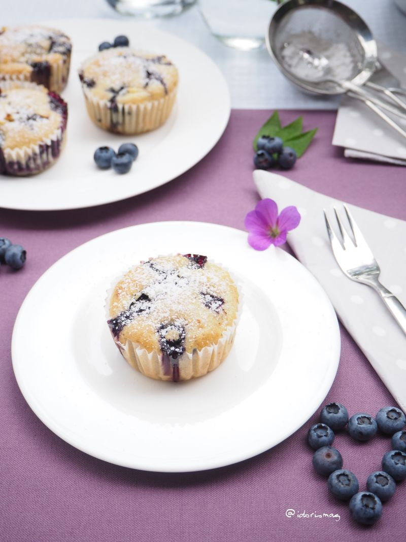 Vegan Blueberry Muffins - Quick & Easy Recipe