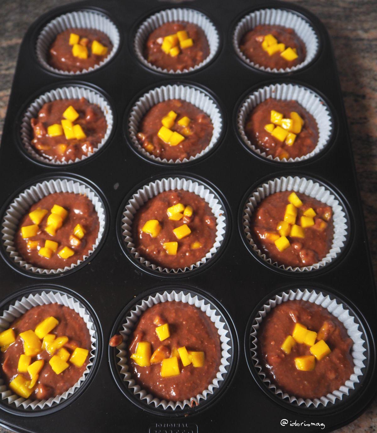 Vegane Kokos Mango Muffins