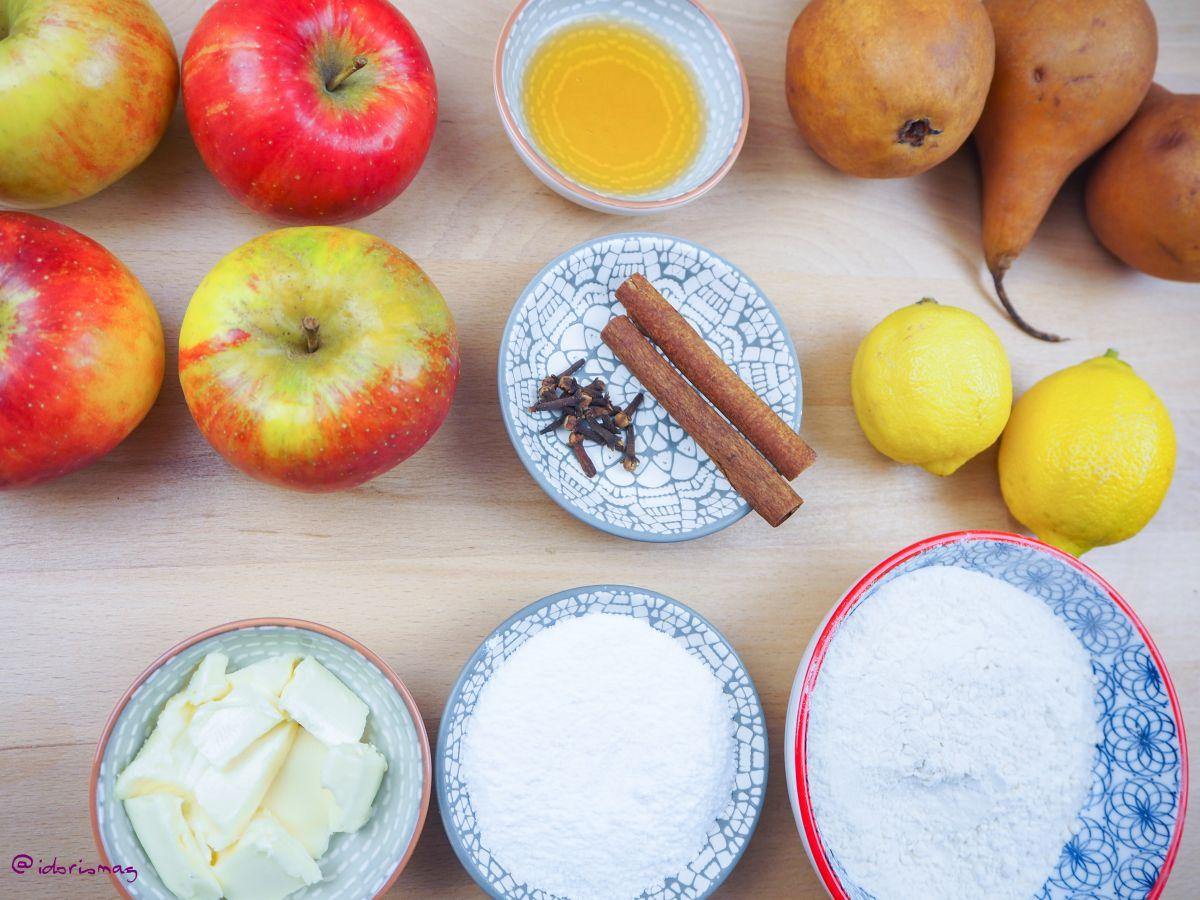 Veganer Apfel Birne Crumble - Veganes Dessert Rezept