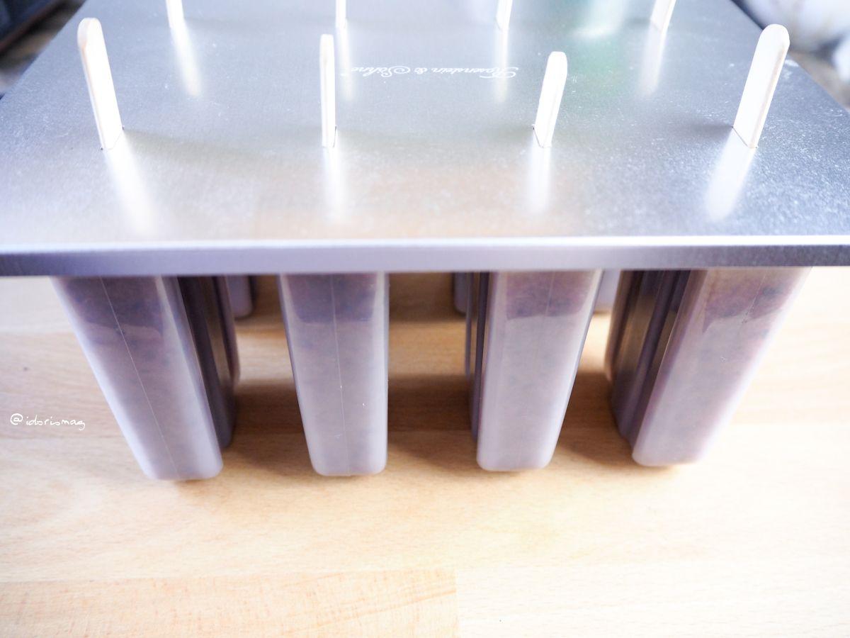 Veganes Heidelbeer / Blaubeer Apfelsaft Eis am Stiel