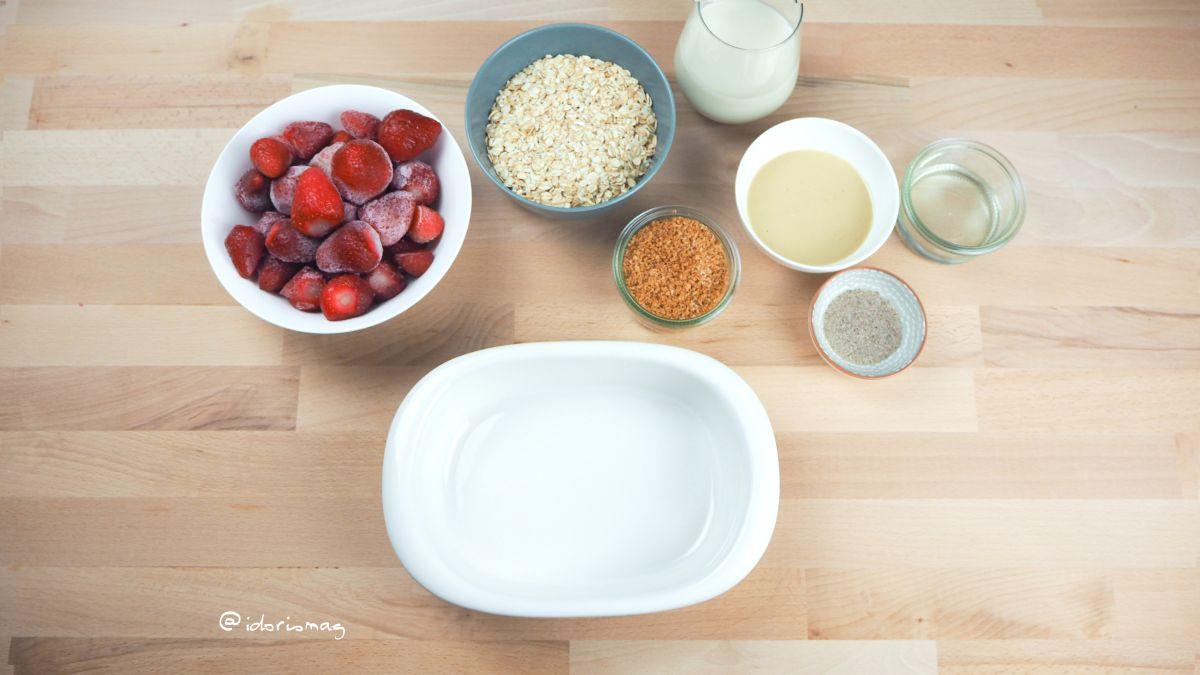 Gebackene Erdbeer Kokos Haferflocken - Baked Oatmeal
