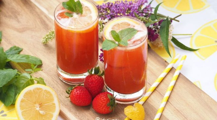 It's fresh, so fresh – Strawberry Mint Lemonade