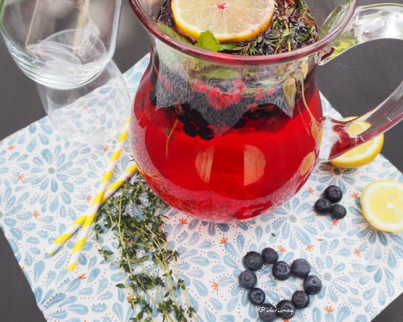 Heidelbeer Gin Cocktail