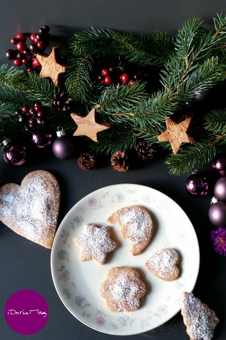 Vegane Butterkekse / Butterplätzchen für den Advent und Weihnachten
