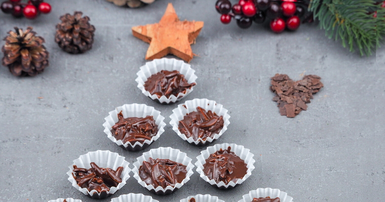 Vegane Mandel Schokolade Pralinen