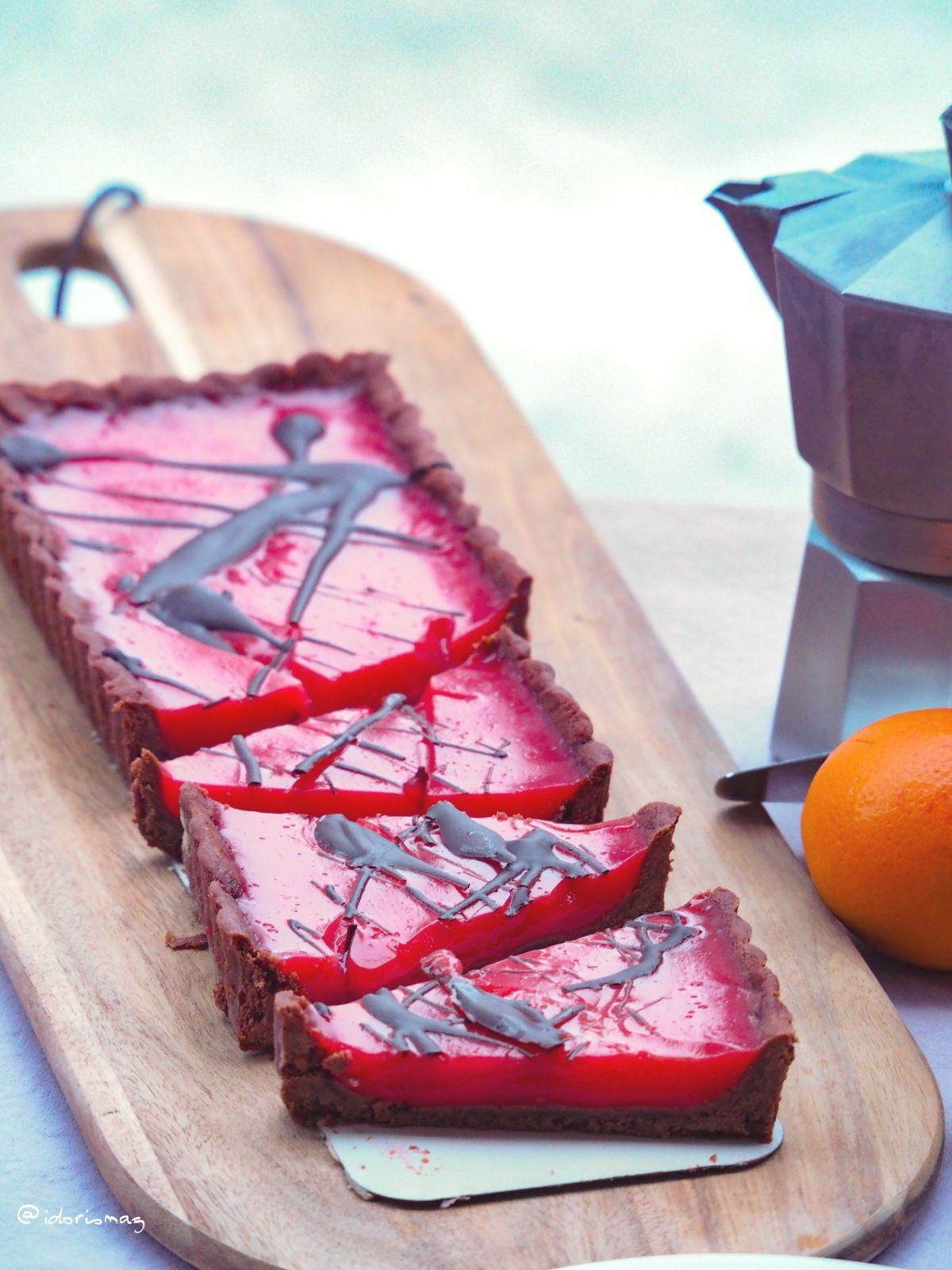 Vegane Blutorangen Tarte mit Ingwer