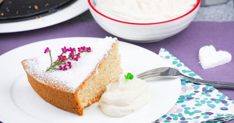 Veganer Earl Grey Biskuit Kuchen