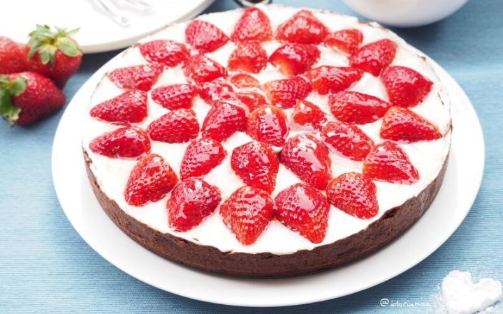 Erdbeer Creme Schoko Mürbteig