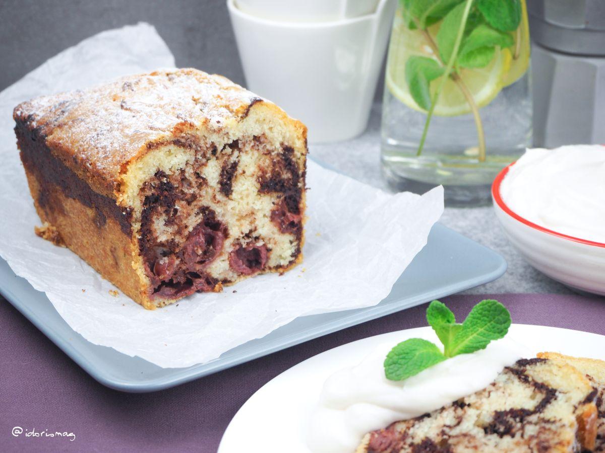 Veganes Rezepet für einen Marmorkuchen in der Kastenform / Kastenkuchen, Marmor Kuchen vegan