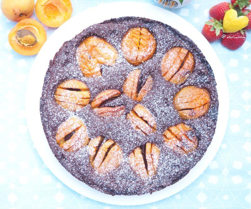 Veganer Schokolade Marillen / Aprikosen Kuchen