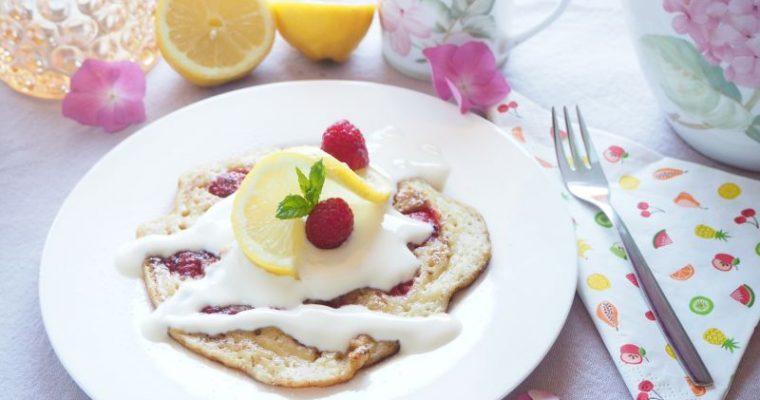 Iss dich glücklich – Fruchtige Vegane Zitronen Himbeer Pancakes