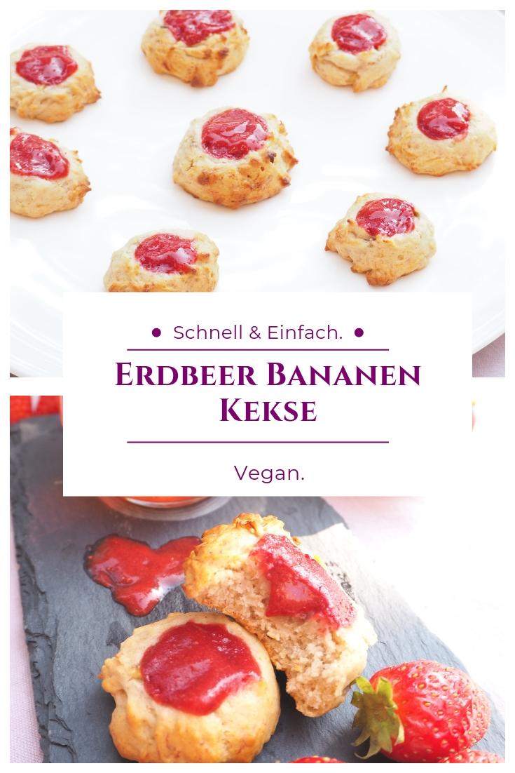 Kleine Bananen Erdbeer Köstlichkeiten - Veganes Rezept