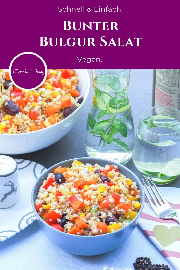 Bulgur wird aus Hartweizen hergestellt. Und er wird vor allem in Orientalischen Rezepten verwendet. Ich nehme Bulgur gerne als Beilage. Oder als Grundlage für einen Salat mit Gemüse, Oliven und Bohnen als Salat.