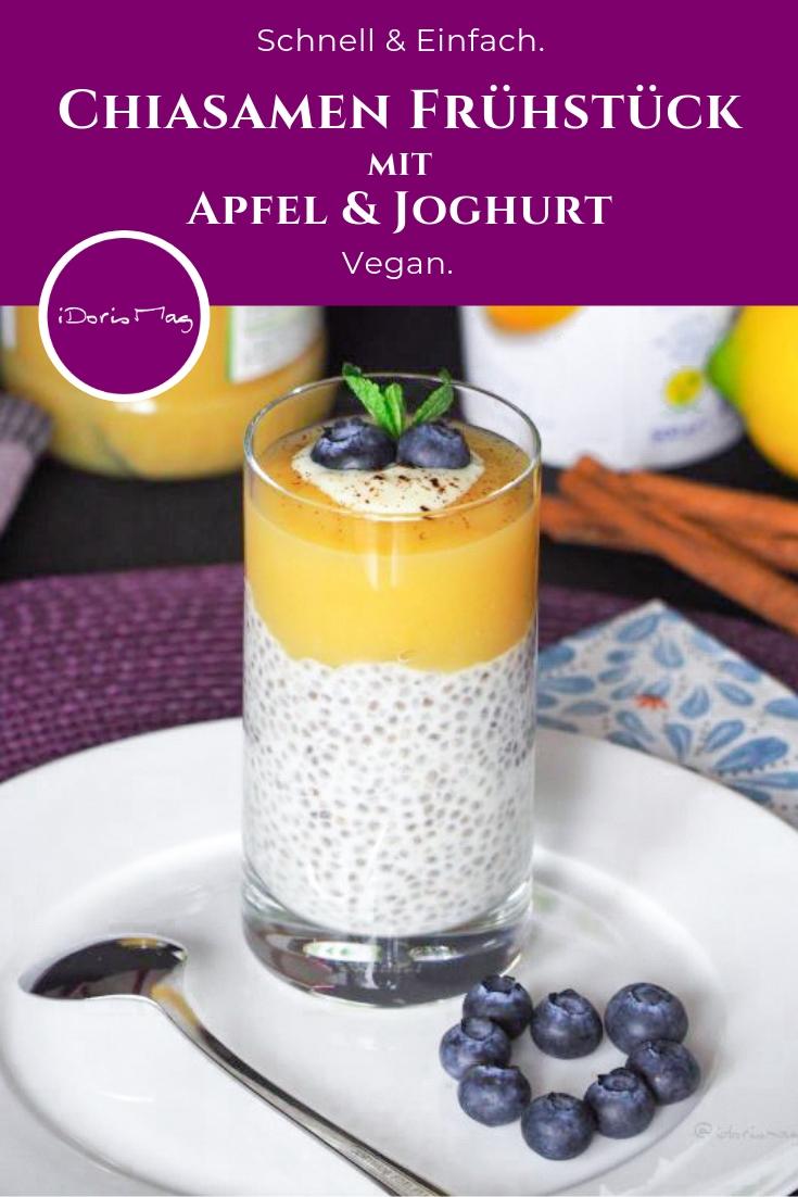 Chia Samen Frühstück - Apfel Joghurt Zimt