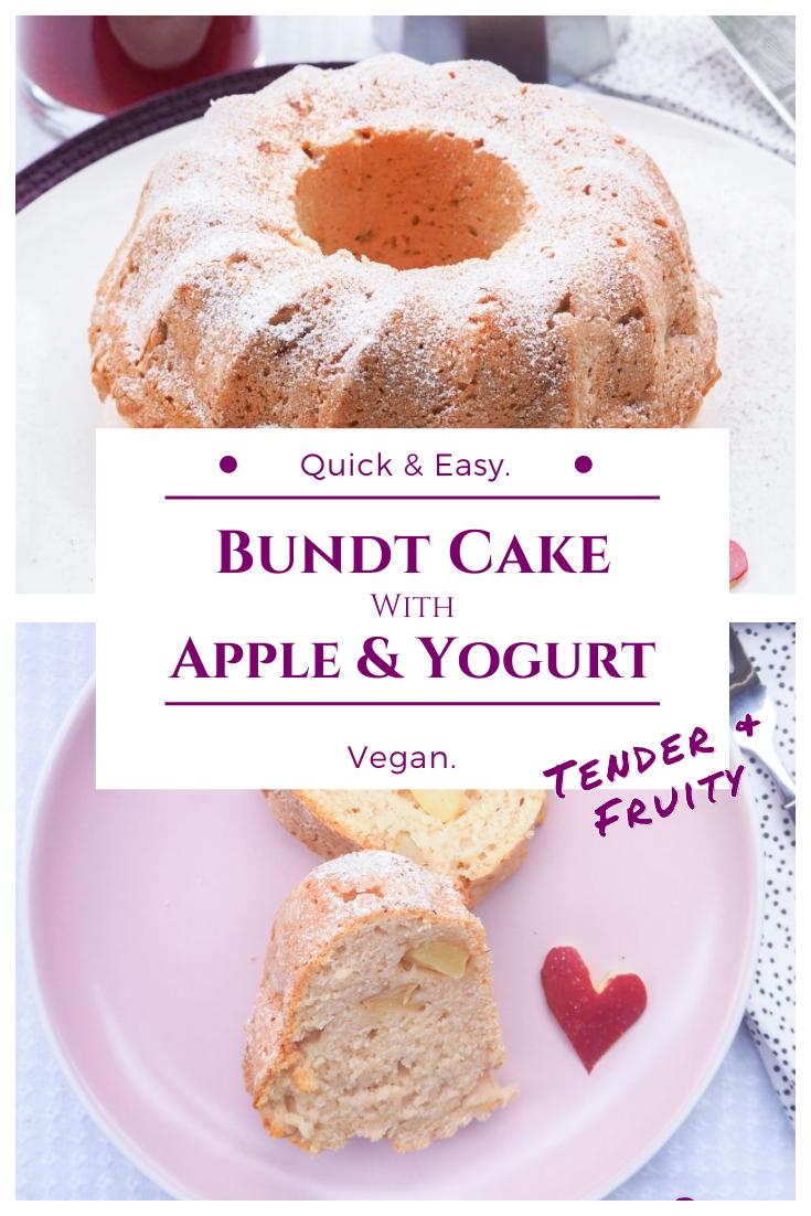 Vegan bundt cake recipe - Apple yogurt bundt cake