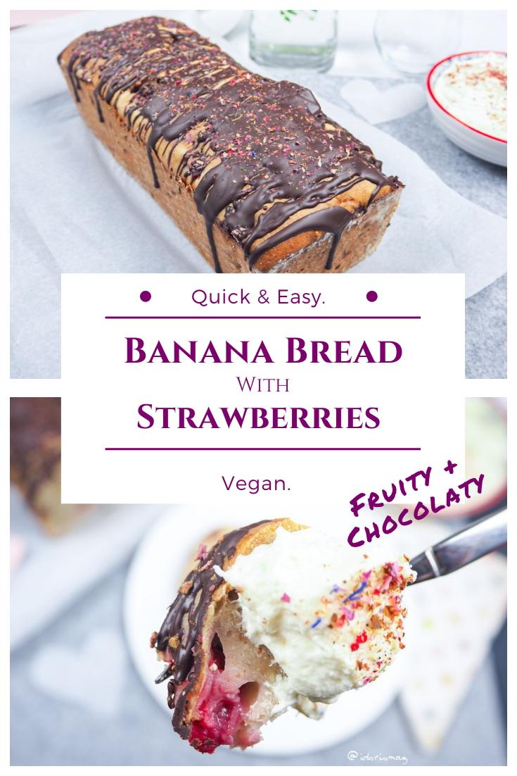 Vegan banana bread with strawberries - Vegan Recipes