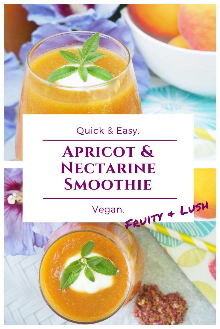 Vegan Smoothie Recipe - Apricot Nectarine Smoothie