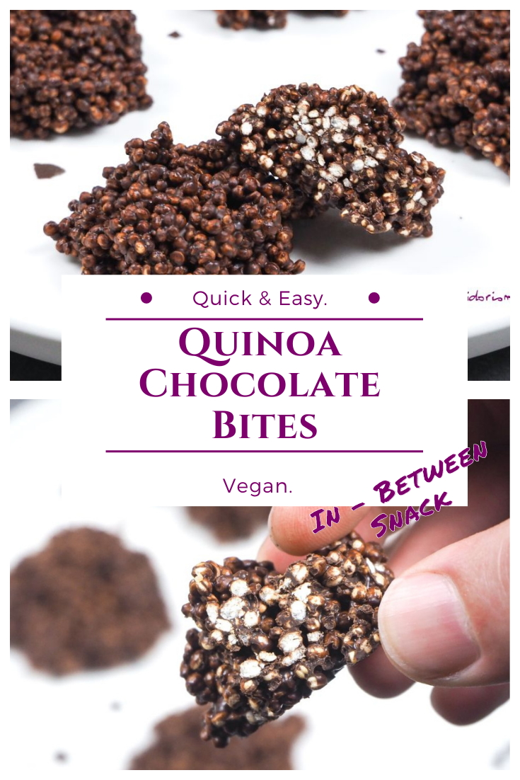 Vegan Quinoa Chocolate Bites - Recipe