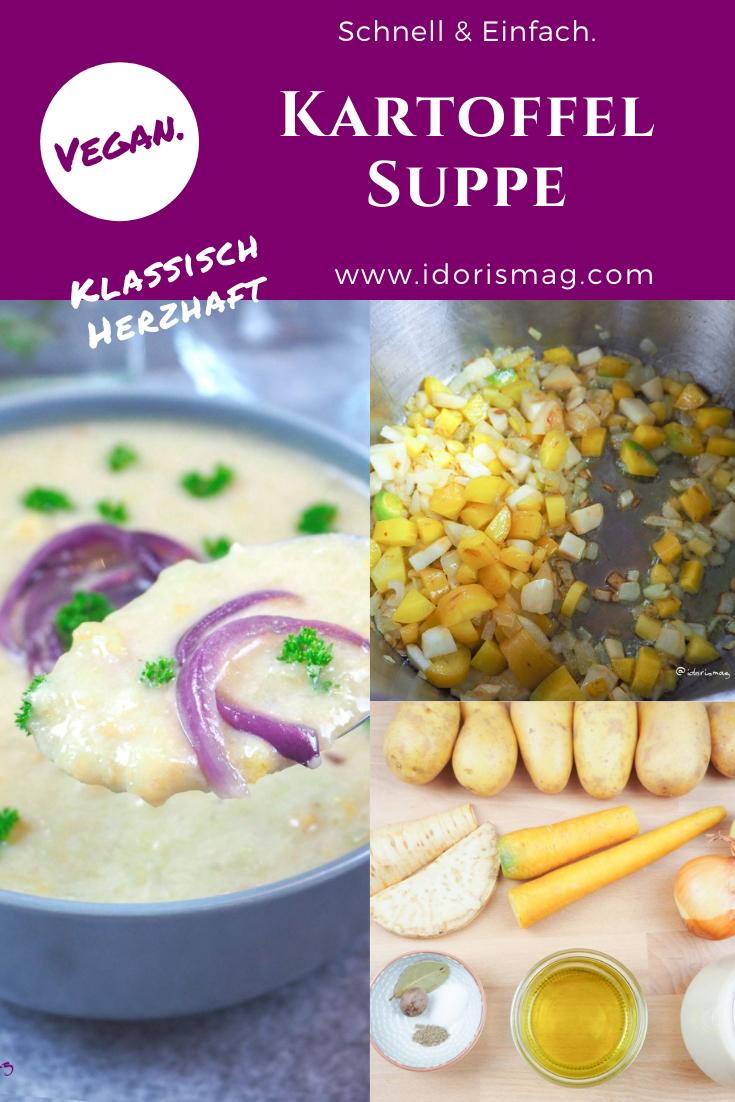 Veganes Rezept - Klassisch herzhafte Kartoffel Suppe