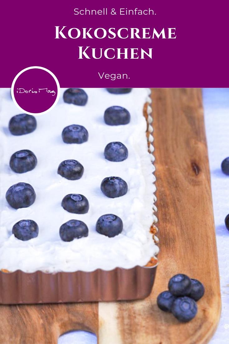 Veganer Kokoscreme Kuchen