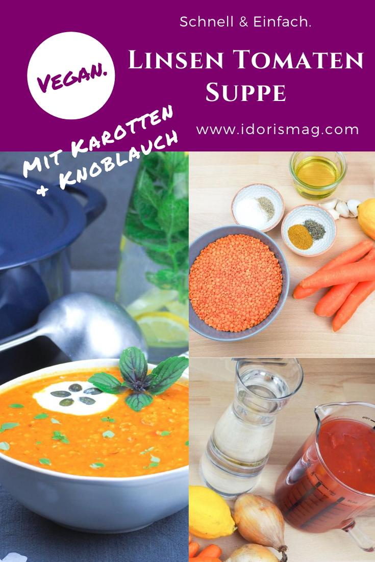 Vegane Linsen Tomaten Suppe
