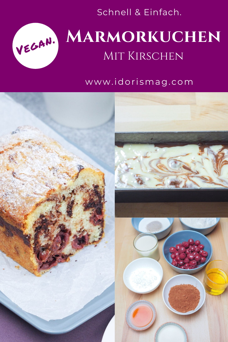 Veganes Rezepet für einen Marmorkuchen in der Kastenform / Kastenkuchen vegan